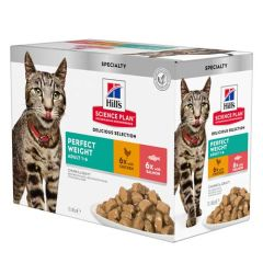Hill's Science Plan Feline Perfect Weight Poulet & Saumon Multipack (sachets)